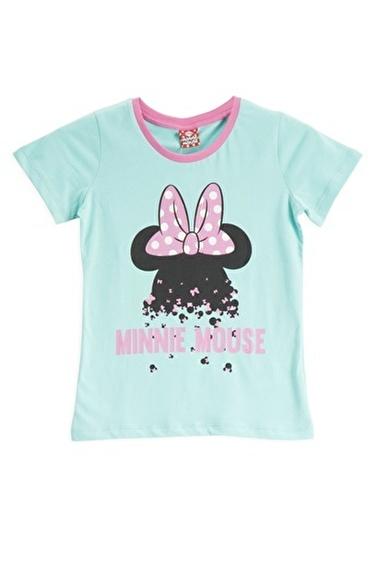 Mickey Mouse Mickey & Minnie Mouse Lisanslı Mint Kız Çocuk T-Shirt Mavi